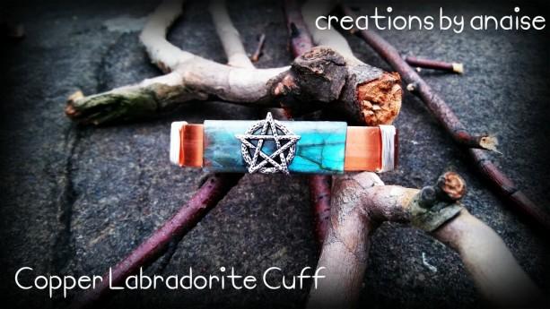 Copper Labradorite Pentacle Cuff