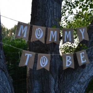 Burlap 'Mommy To Be' Banner
