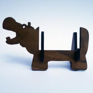 Hippo business card holder for desk