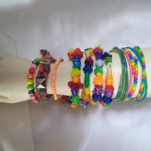 Set of 11 Rainbow Bracelets Arm Party