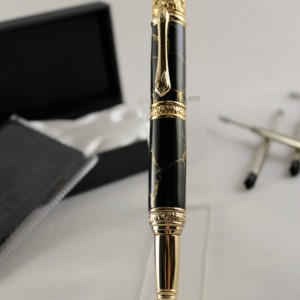24kt Gold-Plated Victorian Rollerball Twist Style Pen Set