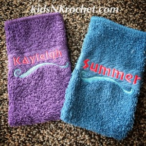 Embroidered Personalized soap pockets, soap cozy