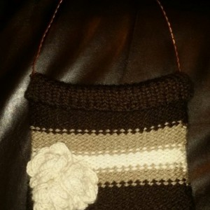 Hand Knit Alpaca Purse