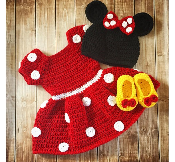 Minnie Mouse Inspired Costume/Minnie Mouse Hat/ Minnie Mouse Costume- MADE TO ORDER