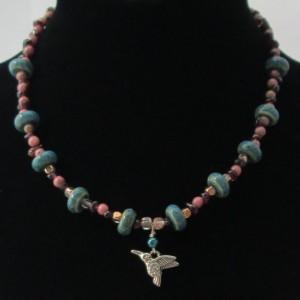 Sedona Hummingbird Beaded Necklace