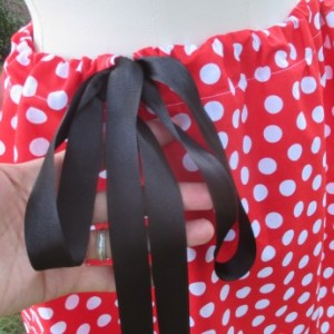 Handmade Minnie Mouse Inspired Drawstring Skirt