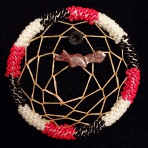 Black, Red, and White Dream Catcher