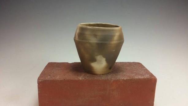 Pit Fired Succulent Planter, Ceramic Cactus Pot