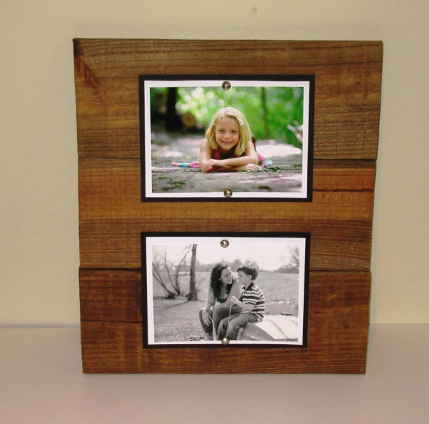 double wood picture frame 5x7 picture frame rustic picture frame double 5x7 wood - Double 5x7 Picture Frame