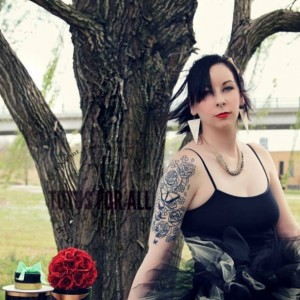 Adult punk rocker corset tutu set