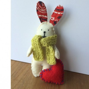 Stuffed Bunnies - A pair of Felt Bunnies -Partners in Crime - Stuffed Toys - Best Friends - softies - small toys - personalized gifts