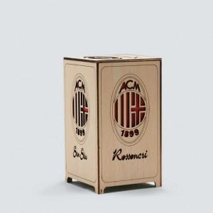 Mini wooden Football table lamp Handcraft Handmade