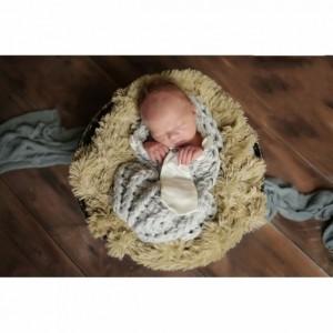 Gray Newborn Cocoon with Silk Tie
