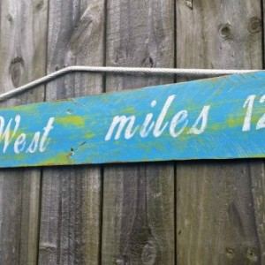 Handmade Shabby Key West Rustic Pallet Sign