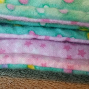 Polka Dot Flannel Baby Blanket