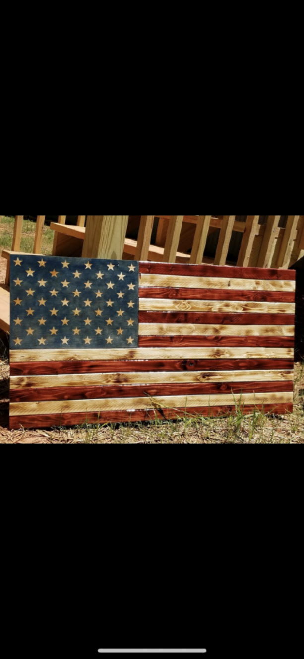 American Wooden Flag