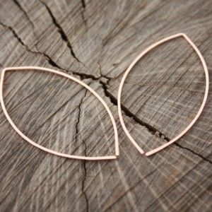 14K Rose Gold-filled Eye-shaped Hoops