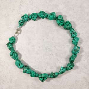 The Mikayla | handmade choker necklace, green synthetic turquoise, magnesite, turquoise nugget beads, statement necklace, Gifts for Her