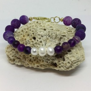 Bracelet purple, purple bracelet, purple stone bracelet, cultured pearls bracelet, beach wear bracelet, perfect gift for her