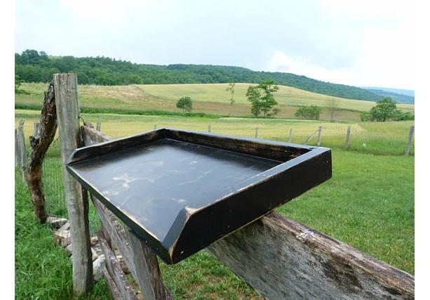 Farmhouse Wooden Tray, Black Tray, Wooden Tray, Ottoman Tray, Serving Tray, Kitchen Decor, Country Kitchen, Primitive Decor