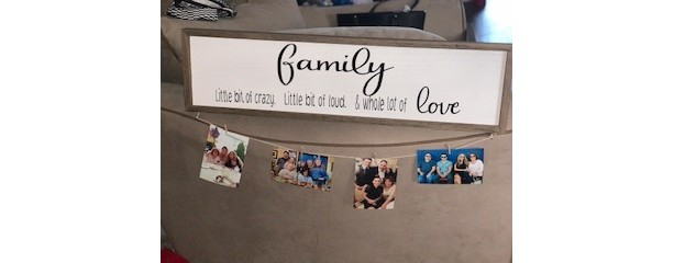 Family Sign with Photo Holder