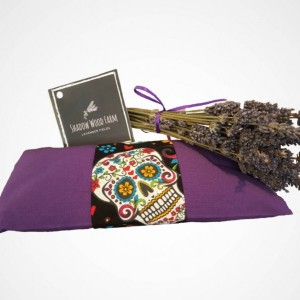 Lavender Eye Pillow- Deep Purple Dia de Los Muertos