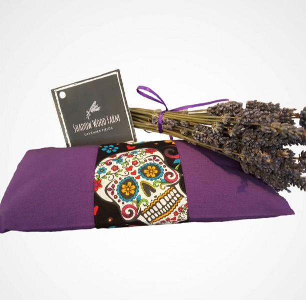 Lavender Eye Pillow- Deep Purple Dia de Los Muertos