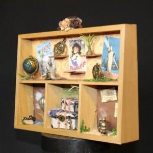 World Travels Shadowbox Diorama