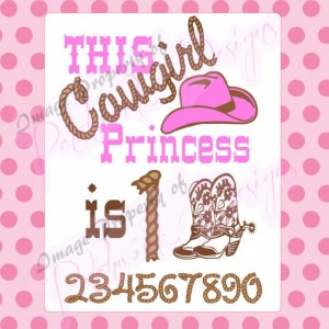Custom Birthday Cowgirl Princess, onesie or Tee Shirt, creeper, T-Shirt