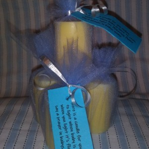 6 pack of vanilla candles with prayer saying, gifts