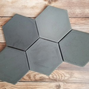 Hexagon concrete coasters