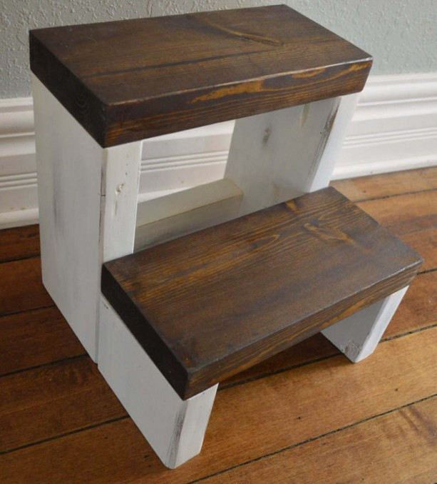 Step Stool / Kids Step Stool / Toddler Step Stool / Kitchen Step Ladder / Kids Stool / Children's Step Stool / Step Ladder / Bed Step Stool