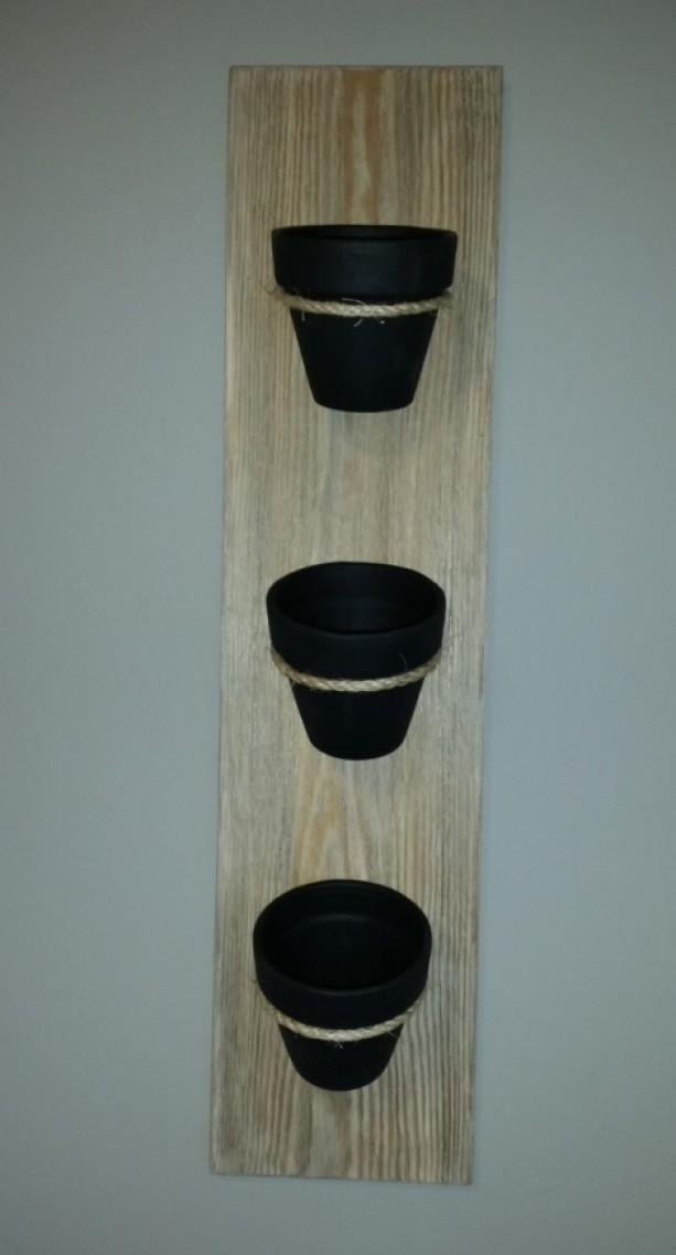 Rustic Indoor Chalkboard Herb Planter