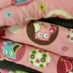 Owls on pink  Microwavable corn bag