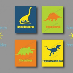 Dinosaur Wall Art - Kids Bedroom Wall Art - Dinosaur Wall Decor - Kids Bedroom Wall Decor