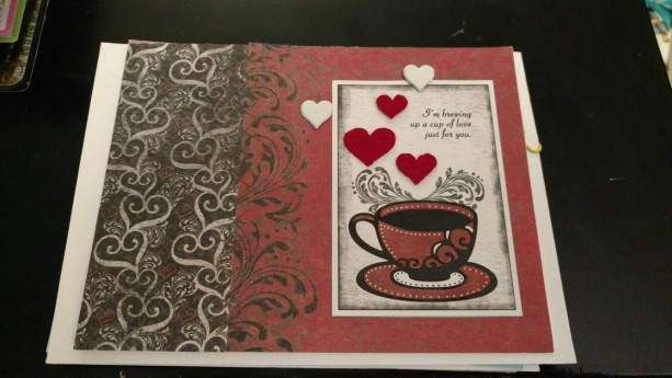 Coffee themed Valentine's Day/love card