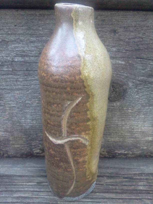 Local Clay Pottery Bottle