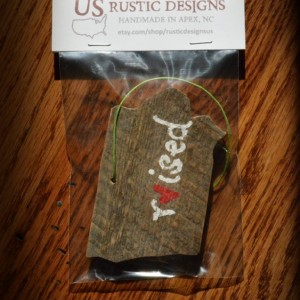 Rustic Custom Iowa Ornament