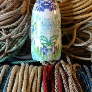 Palm tree floral design! A real Maine lobster buoy!