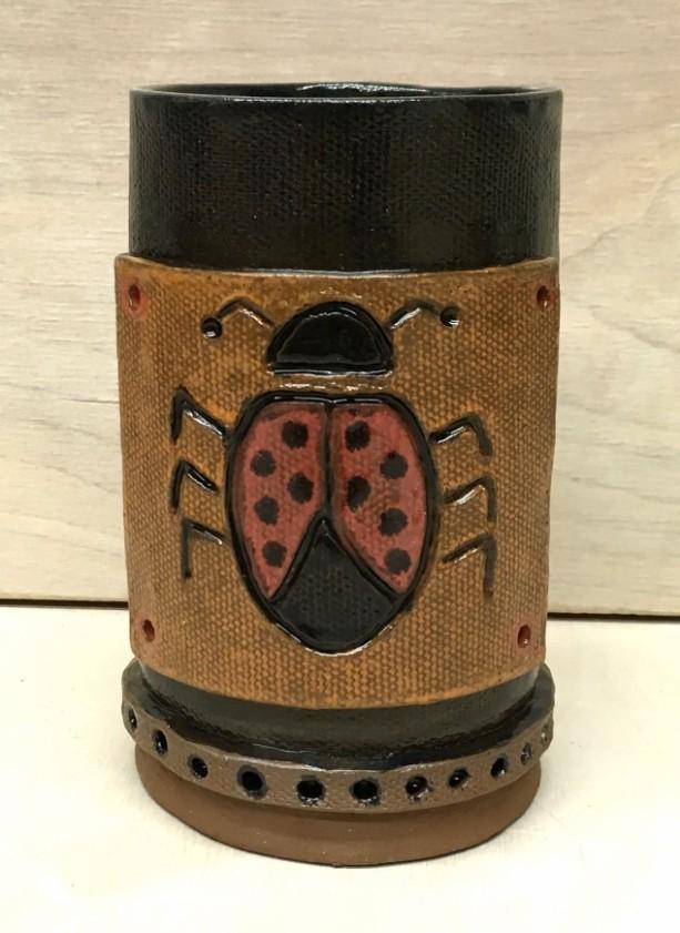 Handbuilt Lady Bug Mug