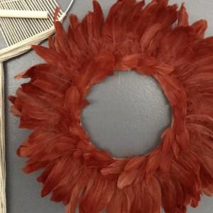 Custom Feather Bohemian Wreath Wall Art Home Decor