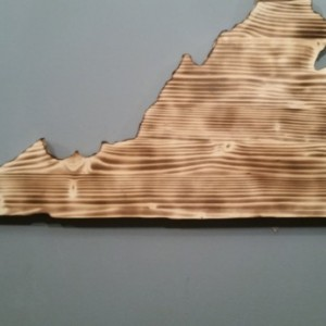 Rustic Virginia Sign/Plaque, add a heart to your location
