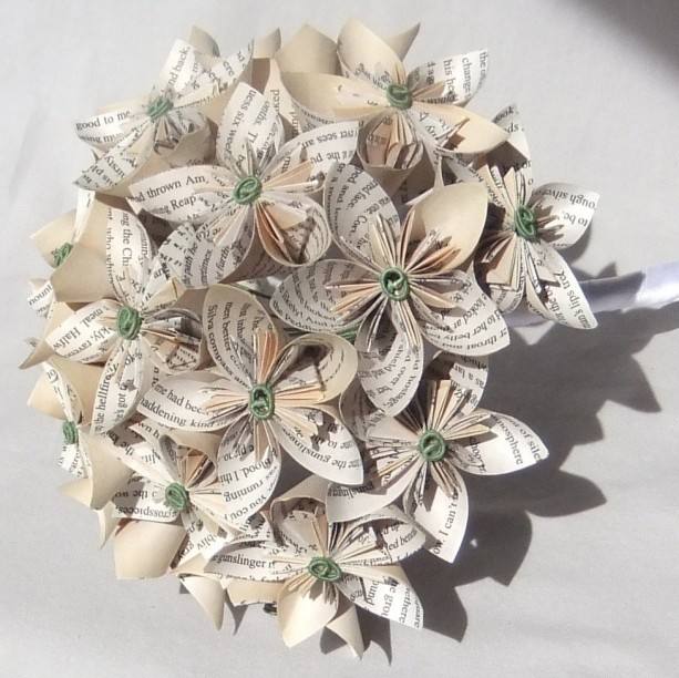 Custom Bouquet Paper Flower Origami Bridal Bridesmaid