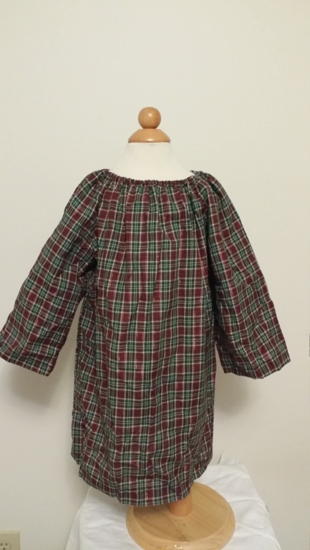 3t Plaid Peasant  Dress