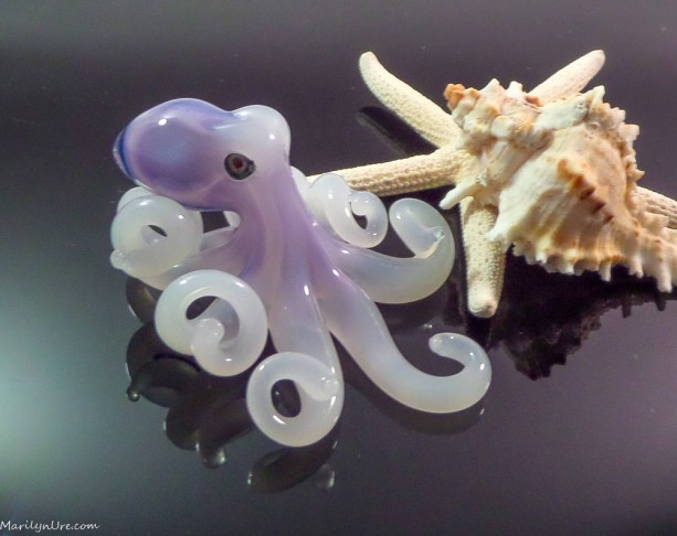 The Samurai Kracken Collectible Wearable  Boro Glass Octopus Necklace / Sculpture Made to Order