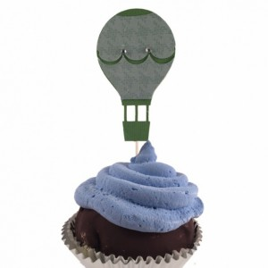 Hot Air Balloon Cupcake Toppers - Set of 12