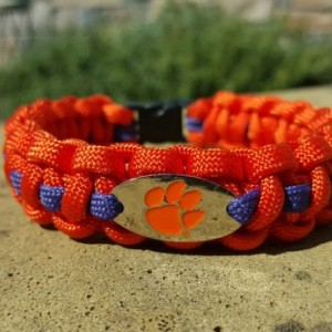 Clemson Tigers  Paracord Bracelet NFL Officially Licensed Charm