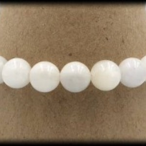 Moonstone Solid Bracelet for Emotional Instability and Stress
