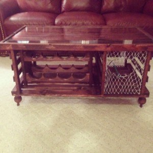 "Lobster Trap Coffee Table WINE RACK ""Made in Maine"""