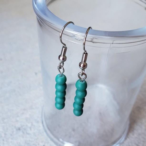 Gorgeous Teal Handmade Dangle Earrings